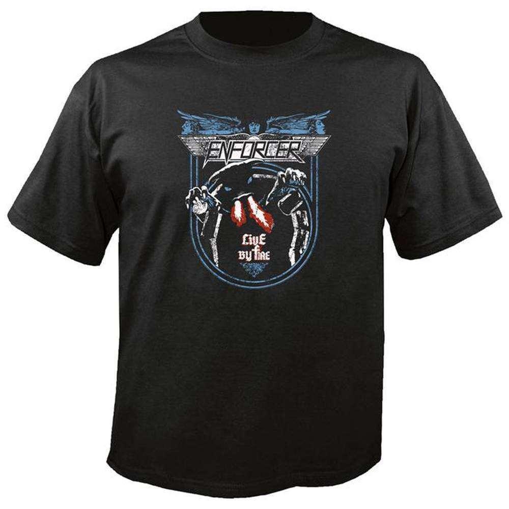 tricou original enforcer live by fire niche records merchandise