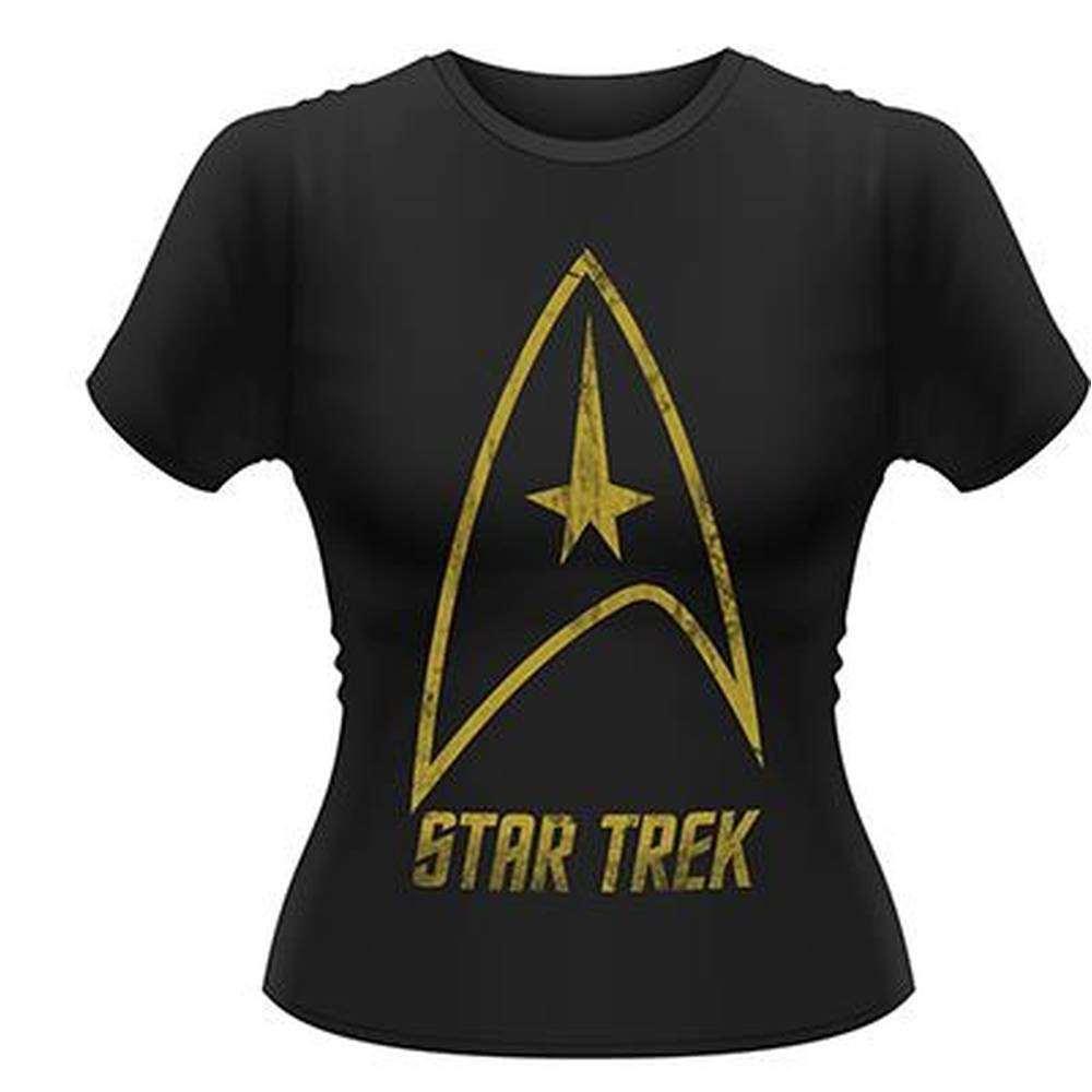 tricou fete original star trek badge logo niche records